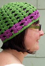 Lacy Shells Crochet Hat Pattern