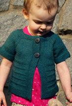 Cardigan Rose Pattern