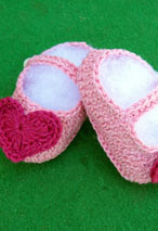 Pretty in Pink Crochet Baby Shoes Pattern