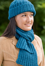 Farrow Rib Hat & Scarf Set Pattern