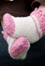 Picot & Windmill Infant Socks Pattern