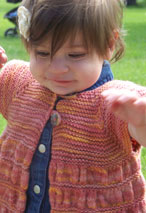 Baby Ruched Cardigan Pattern