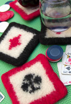 Felted Poker Coasters Pattern