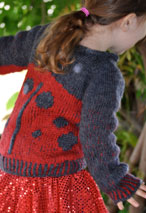 Armenian Knit Lady- Bug Sweater Pattern