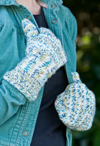 Zig Zag Cable Mittens Pattern