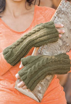 Twisty Cables Fingerless Mitts Pattern