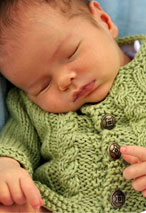 Bitty Cabled Cardigan Pattern