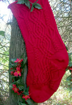Christmas Cable Heirloom Stocking Pattern
