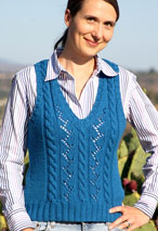 Lace Cable Vest Pattern