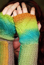 Swerve Fingerless Mitts Pattern