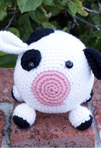 Roly Poly Cow Crochet Amigurumi Pattern