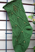 Diamonds are Fir-Ever Christmas Stocking Pattern