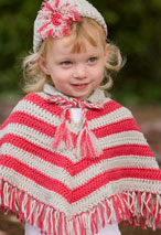 Child Crochet Poncho & Hat Set Pattern