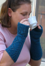 A Girl's Best Friend Fingerless Mitts Pattern