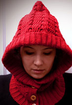 Crochet Through The Woods Hooded Neck Warmer Pattern
