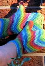 Feather Mittens Pattern