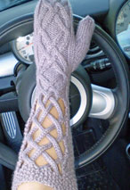 Window Pane Mittens Pattern