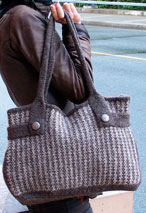 Felt Like Tweed Bag with bonus Mini Cellphone Purse pattern Pattern