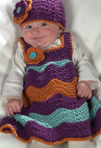 Chevron Stitch Jumper and Matching Beanie Pattern