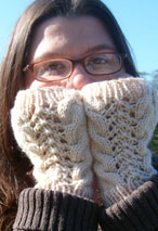 Cable-Lacey's Fingerless Mitts Pattern