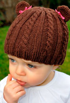 Cabled Teddy Hat Pattern