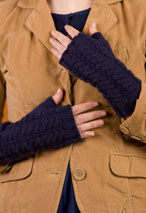 Long & Lean Cabled Fingerless Gloves Pattern
