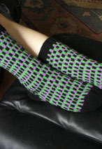 Vertical Bricks Socks Pattern
