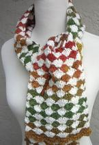 Diamond Exchange Crochet Scarf  Pattern