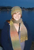 Chromatography- Brioche Hat and Scarf Set Pattern