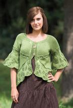 Eyelets and Lace Curved Hem Cardigan Pattern