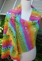 Cascading Stylish Crochet Shawl Pattern