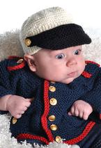 Baby Boy Dress Blues Cardigan & Hat Pattern