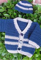 Santiago Crochet Baby Sweater Pattern