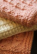 Kitchen Knitted Dishcloths 2 - set of 3 Pattern Pattern