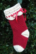 Heritage Christmas Crochet Stocking  Pattern