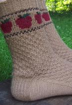 Apple Basket Socks Pattern
