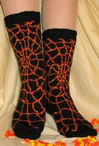 Shelob's Lair Socks Pattern
