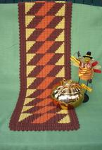 Fall Fiesta Crochet Table Runner Pattern