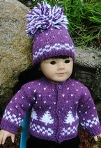 Winter Pines Doll Sweater & Hat Pattern