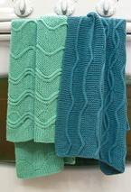 Cotlin Hand Towels with Traveling Stitch Designs Pattern