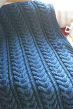 Horseshoe Cable Throw Pattern