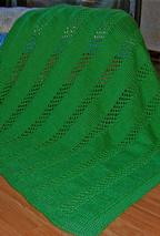 Lattice Stripe Baby Blanket Pattern