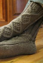 Handsome Men's Slipper Socks Pattern