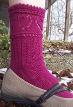 Candy Hearts Socks Pattern