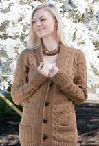 Vintage Cables Cardigan Pattern
