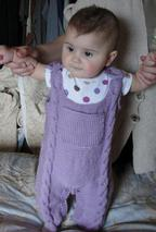 Cabled Baby Britches Pattern