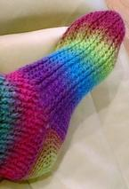 Ladder Stitch Crochet Socks Pattern