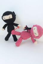 Ninja Attack! Crochet Dolls Pattern
