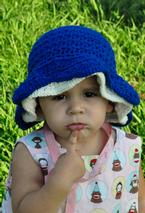 Thandie Star Stitch Crochet Sun Bonnet Pattern
