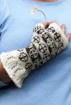 Spinning Wheel Mitts Pattern